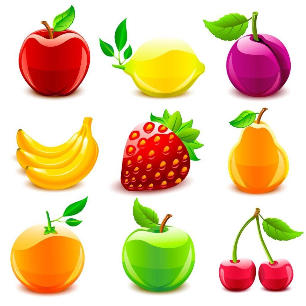 Цветные овощи и фрукты картинки для детей - красивые и прикольные 12