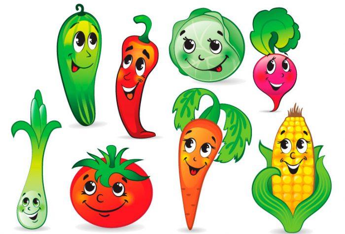 Цветные овощи и фрукты картинки для детей - красивые и прикольные 18