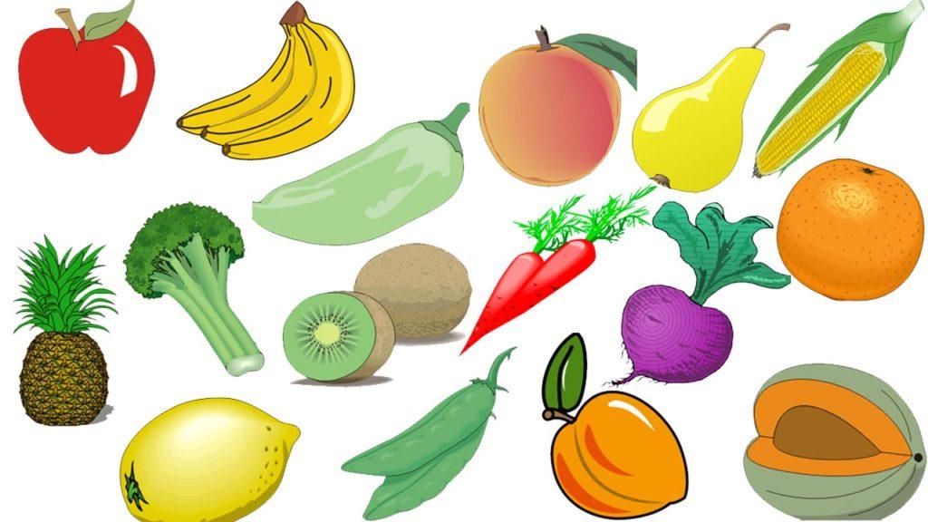 Цветные овощи и фрукты картинки для детей - красивые и прикольные 19