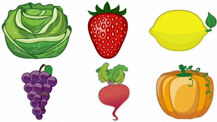 Цветные овощи и фрукты картинки для детей - красивые и прикольные 7