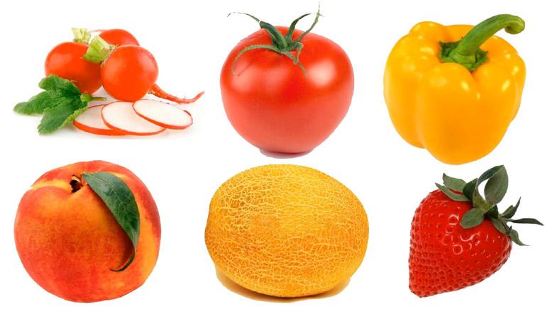 Цветные овощи и фрукты картинки для детей - красивые и прикольные 8