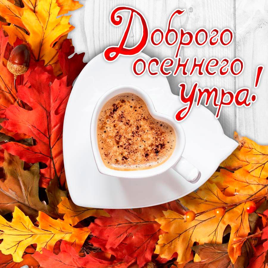 Прикольные картинки доброе утро осеннего дня - милые открытки 11