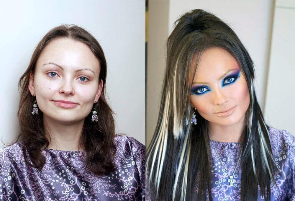 Картинки и фото Девушки с косметикой и без - подборка 20