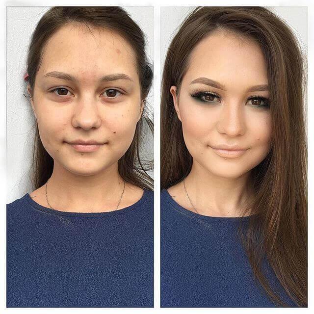 Картинки и фото Девушки с косметикой и без - подборка 11