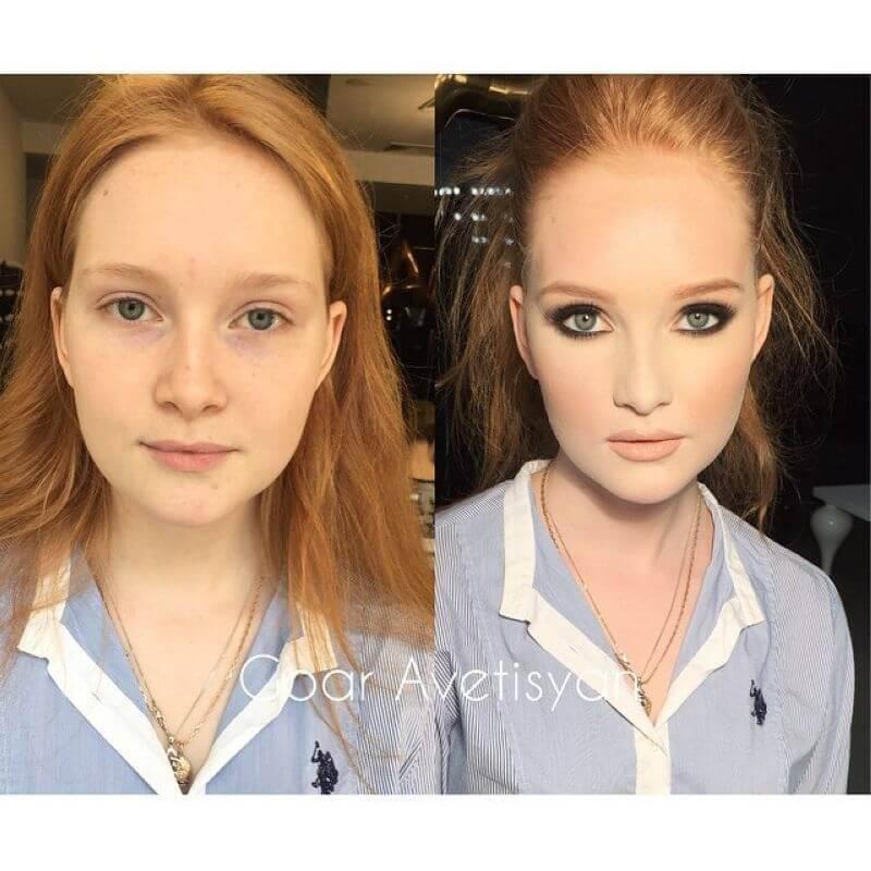 Картинки и фото Девушки с косметикой и без - подборка 9