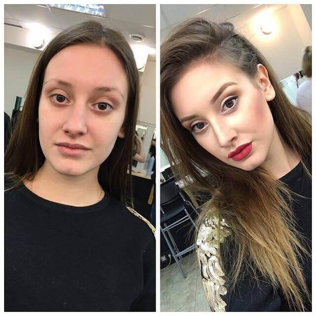 Картинки и фото Девушки с косметикой и без - подборка 4
