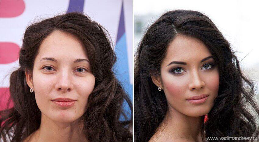 Картинки и фото Девушки с косметикой и без - подборка 15