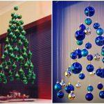 Идеи в картинках, как просто украсить комнату на Новый год 17