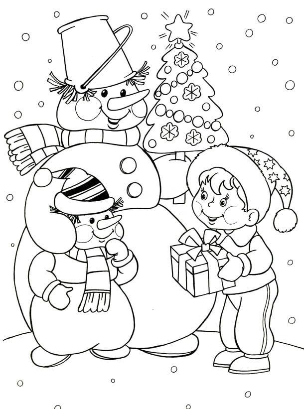 Лучшие новогодние картинки для детей для срисовки - подборка 3