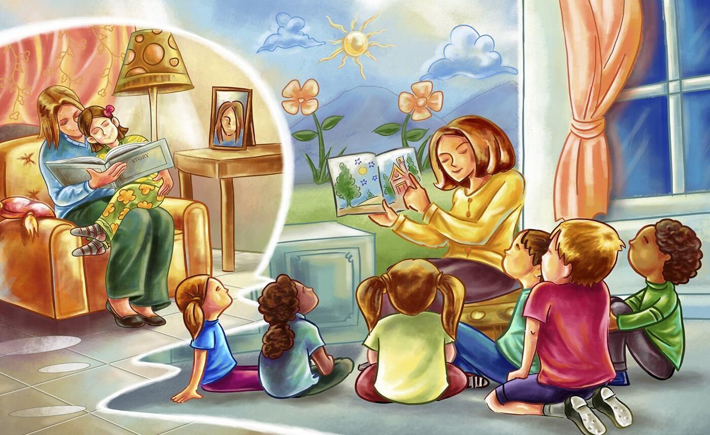 Картинки про детей в детском саду - рисунки, арты 3