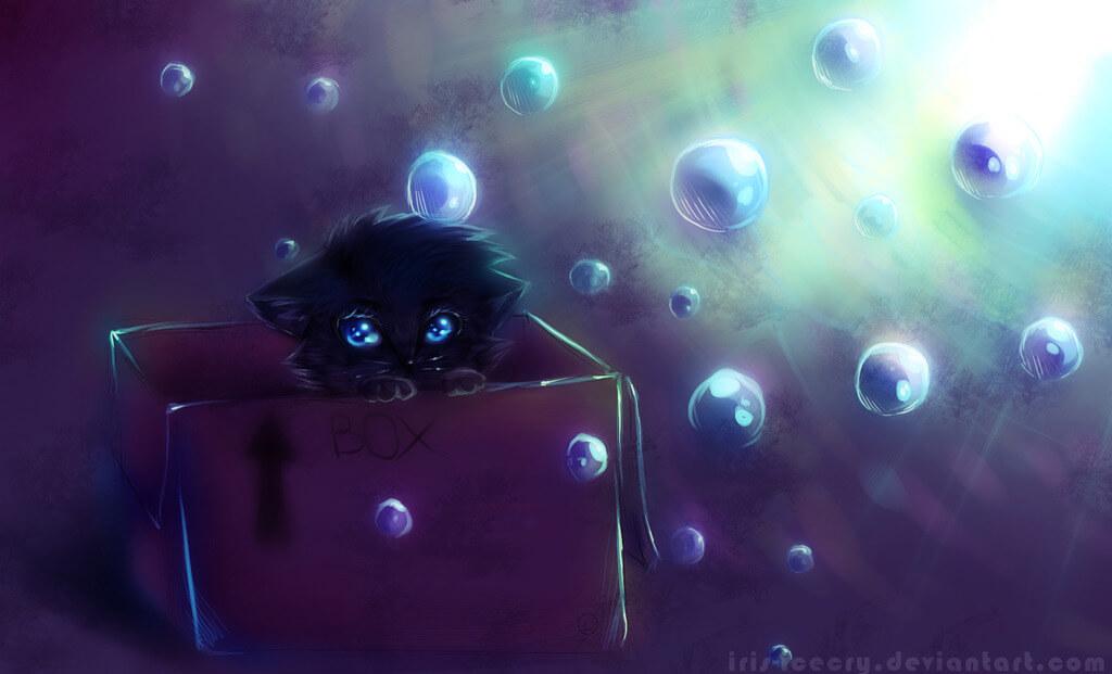 Прикольные и милые арт картинки котиков и кошек - подборка 3