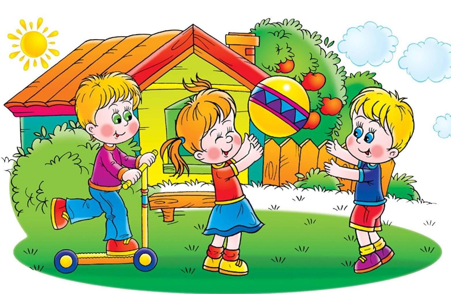 Картинки про детей в детском саду - рисунки, арты 2