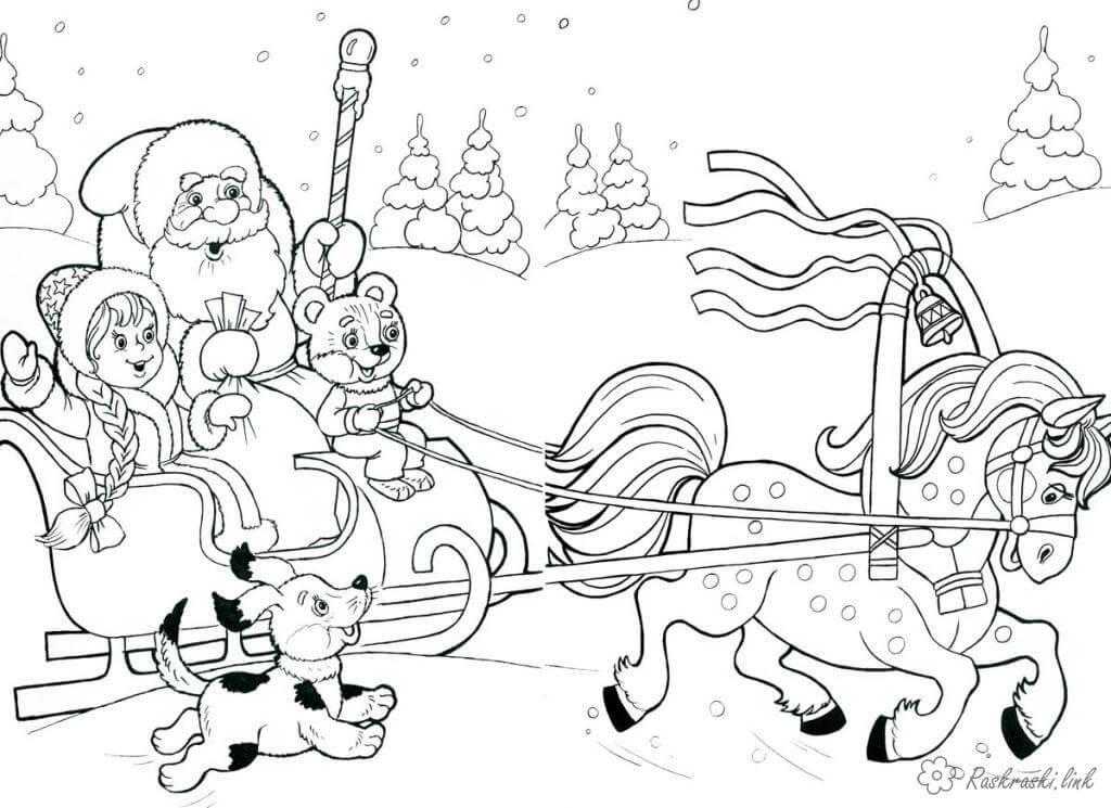 Лучшие новогодние картинки для детей для срисовки - подборка 7
