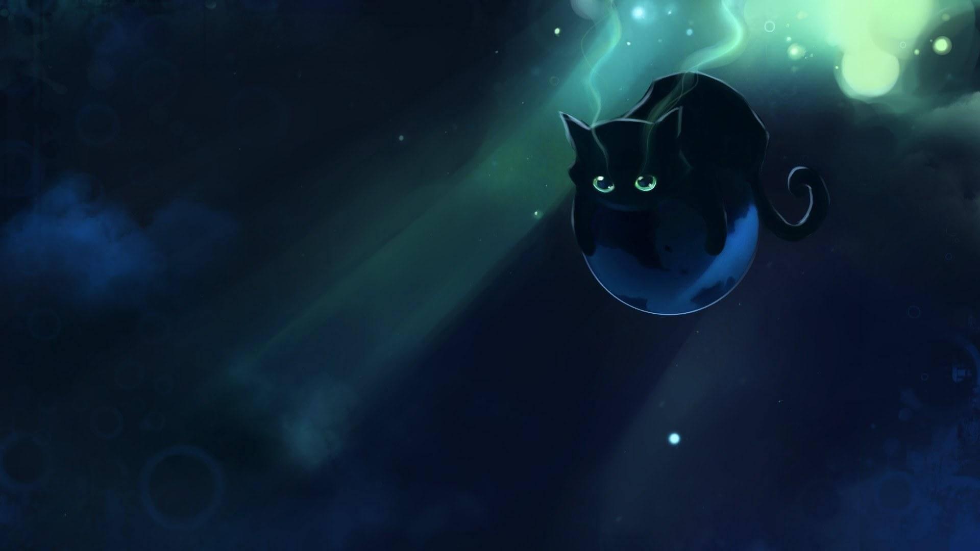 Прикольные и милые арт картинки котиков и кошек - подборка 4