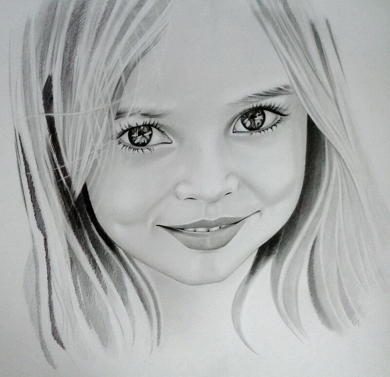 Красивые картинки карандашом девушек и девочек - подборка 6