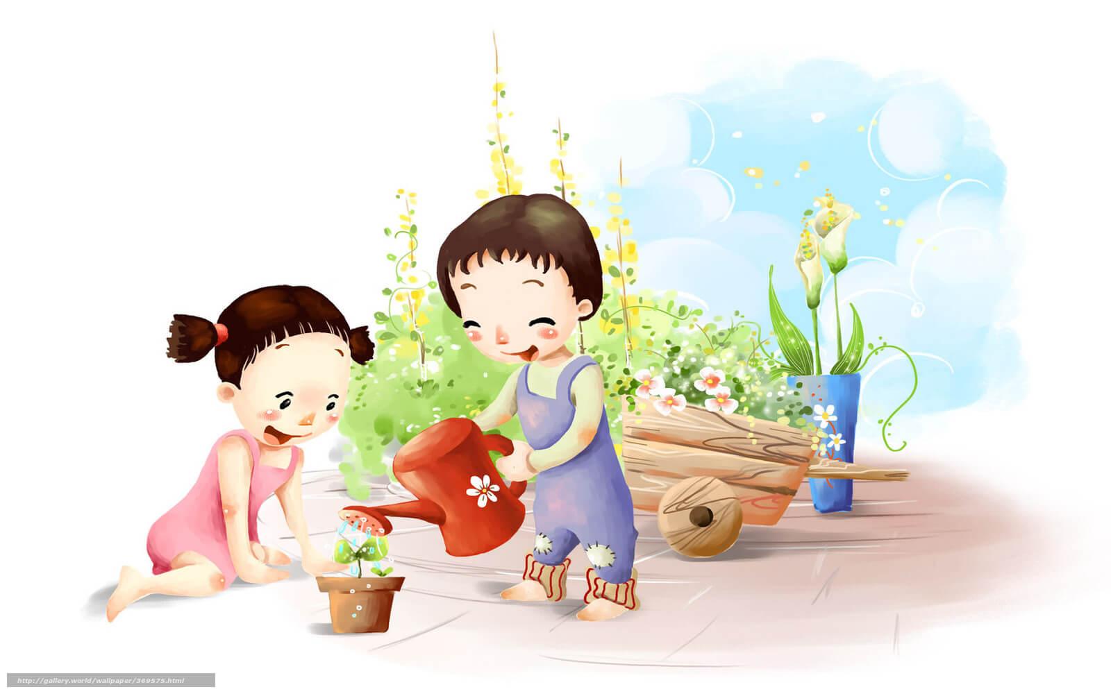 Картинки про детей в детском саду - рисунки, арты 5