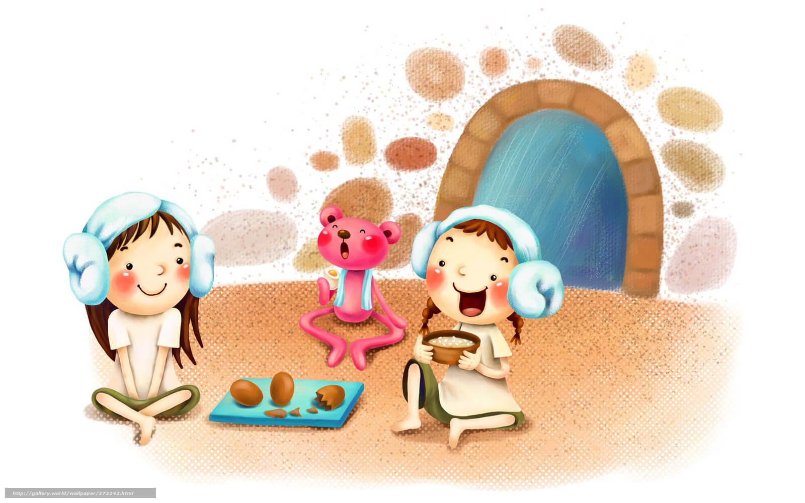 Картинки про детей в детском саду - рисунки, арты 6