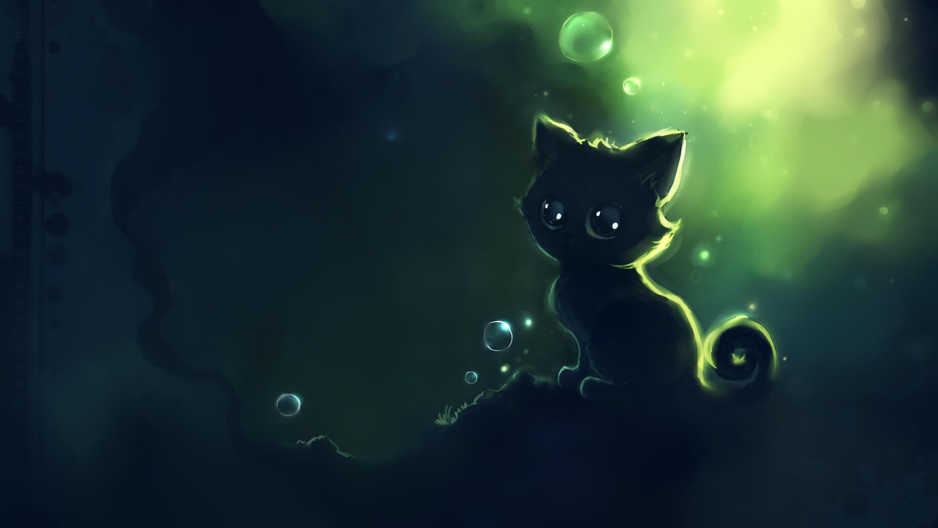 Прикольные и милые арт картинки котиков и кошек - подборка 5