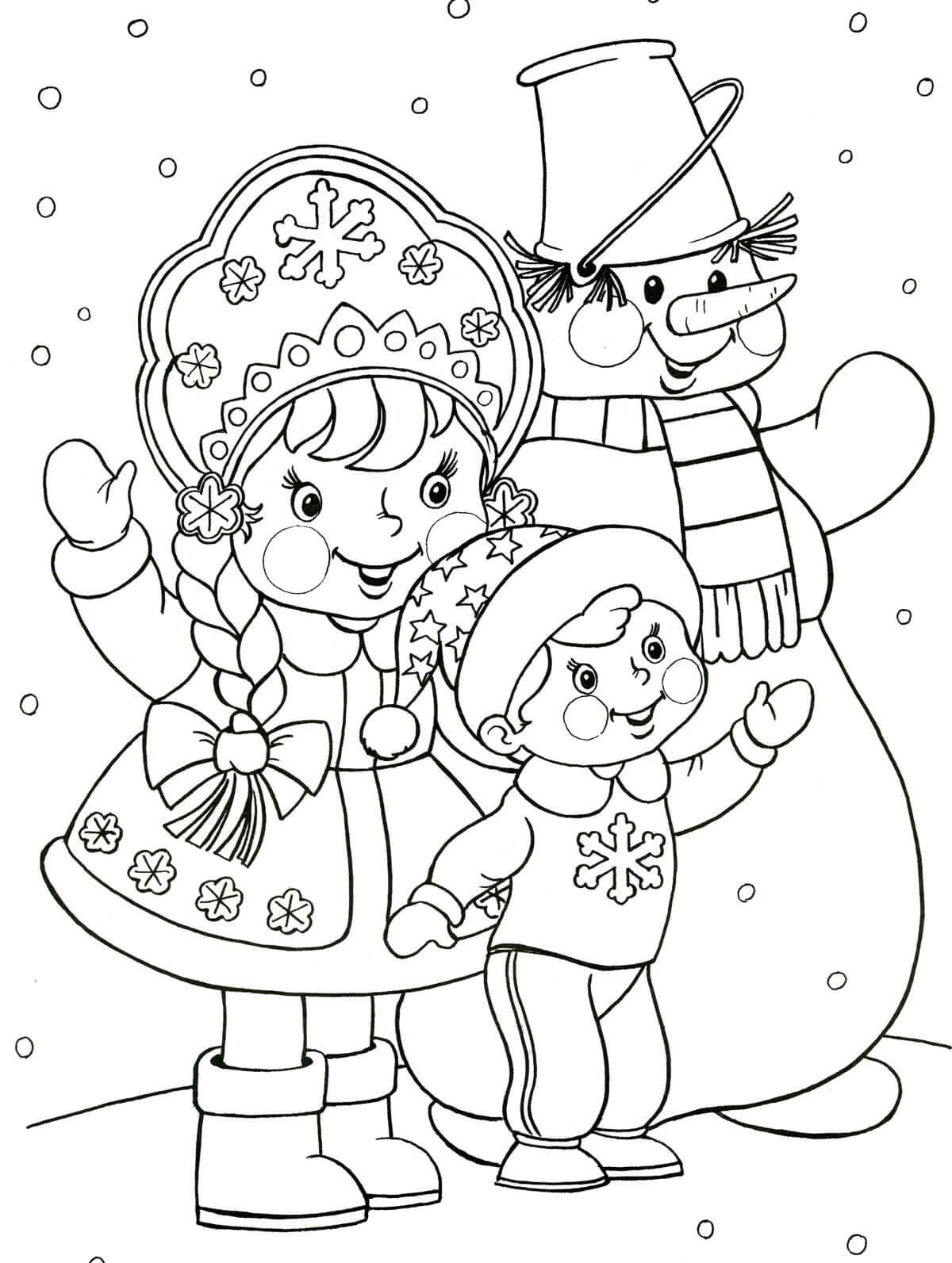 Лучшие новогодние картинки для детей для срисовки - подборка 6