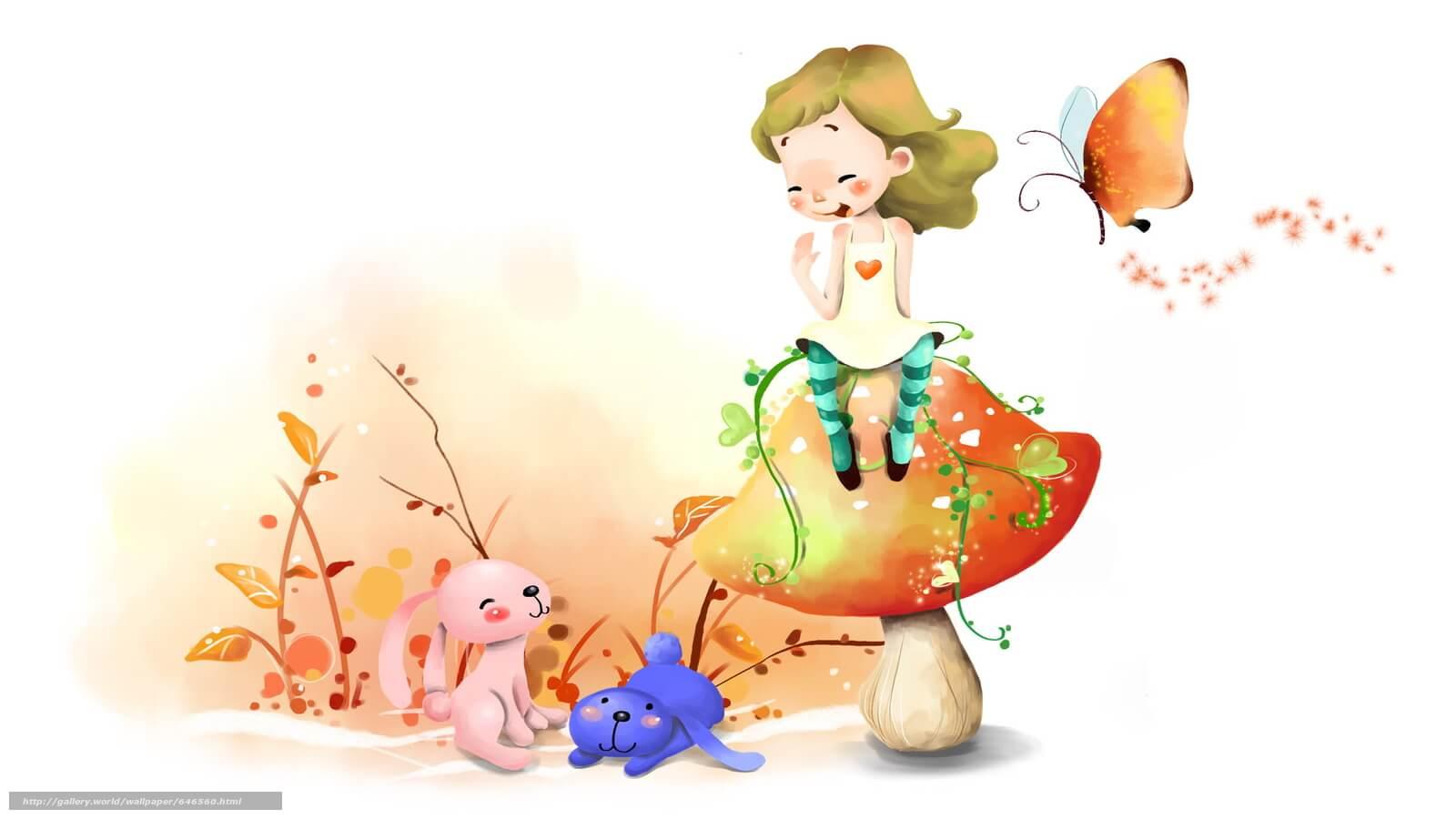Картинки про детей в детском саду - рисунки, арты 7