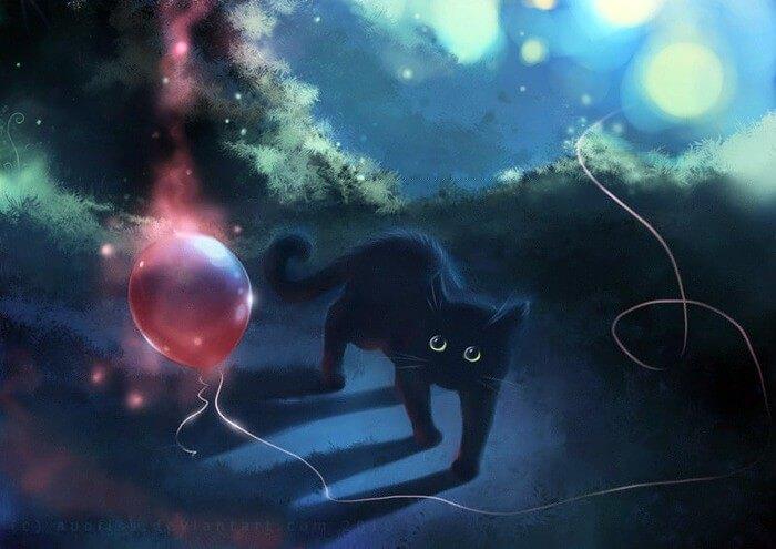 Прикольные и милые арт картинки котиков и кошек - подборка 8