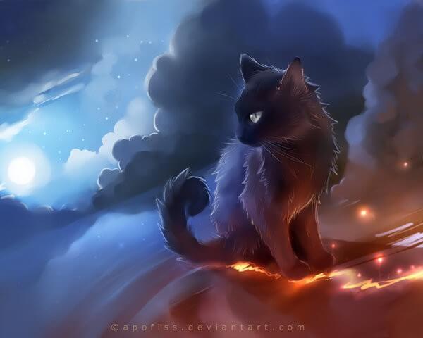 Прикольные и милые арт картинки котиков и кошек - подборка 1