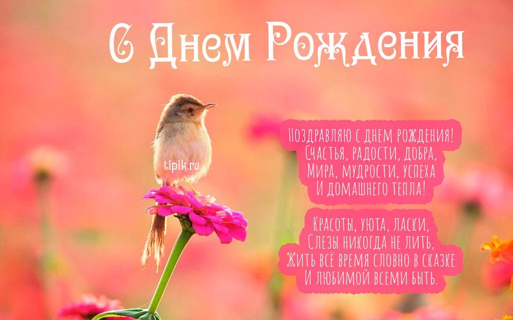 Скачать открытки с Днем Рождения женщине - красивые поздравления 16