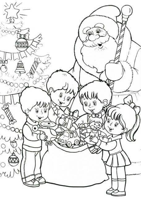 Лучшие новогодние картинки для детей для срисовки - подборка 8