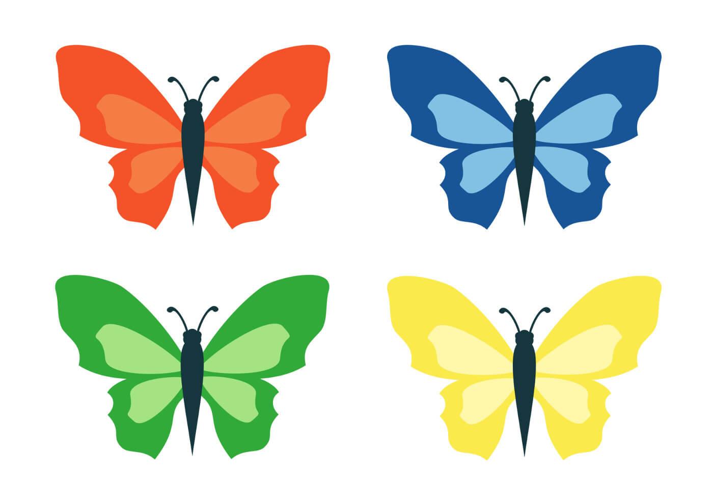 Красивые рисунки, картинки бабочки для детей - коллекция 10