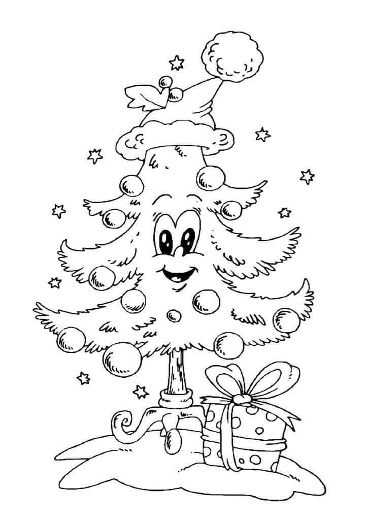 Лучшие новогодние картинки для детей для срисовки - подборка 9
