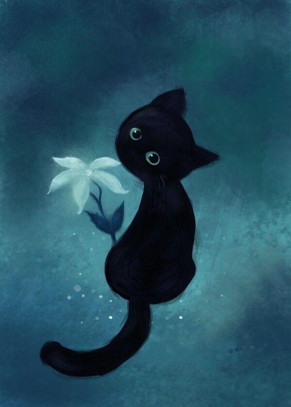 Прикольные и милые арт картинки котиков и кошек - подборка 12