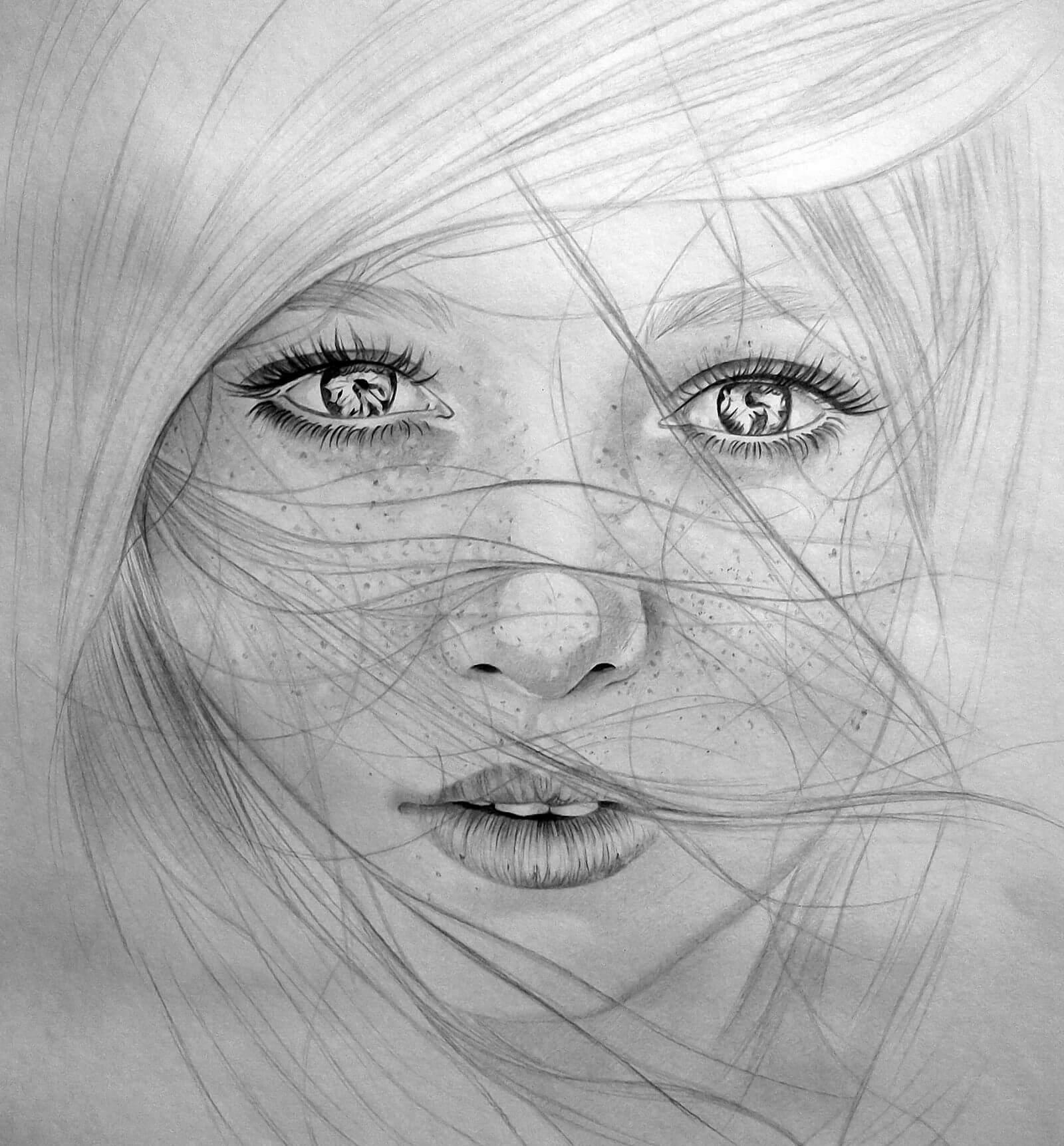 Красивые картинки карандашом девушек и девочек - подборка 8