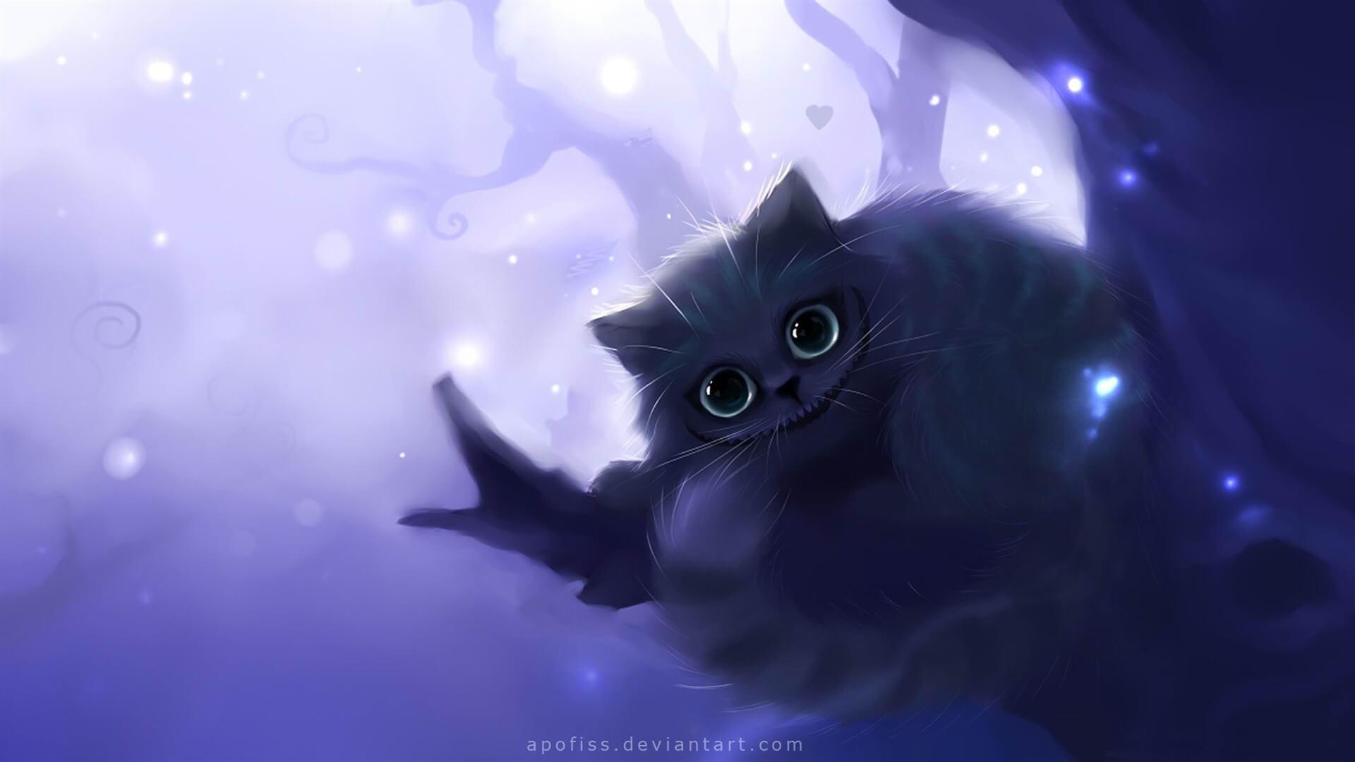Прикольные и милые арт картинки котиков и кошек - подборка 13
