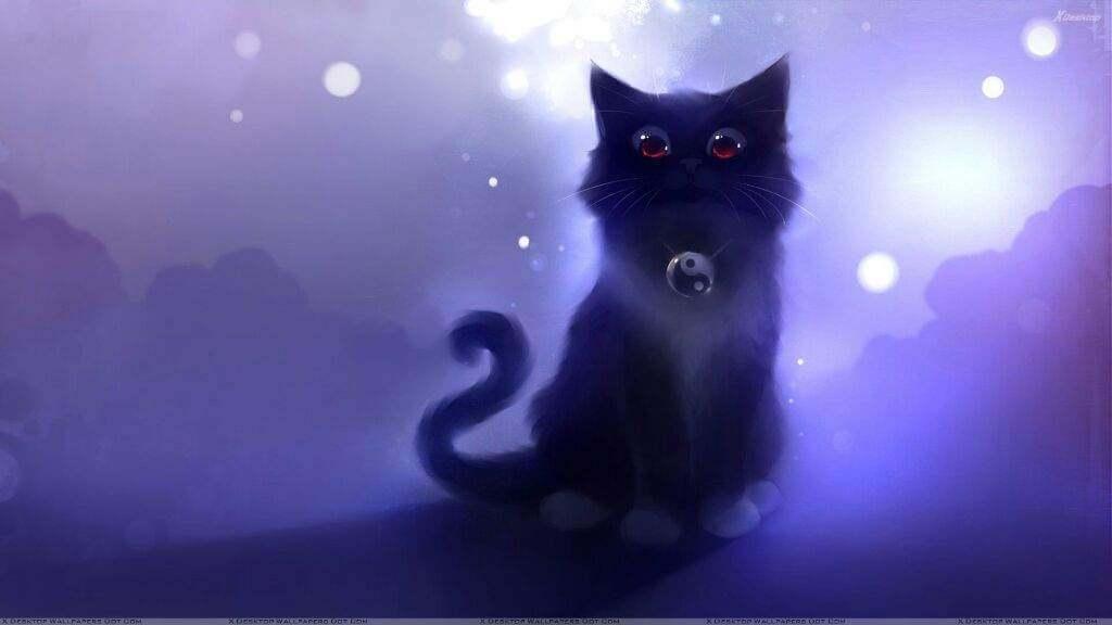 Прикольные и милые арт картинки котиков и кошек - подборка 15