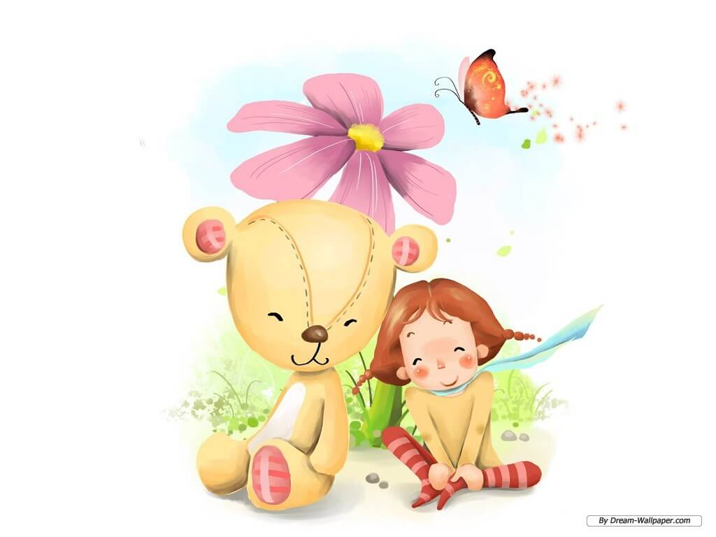 Картинки про детей в детском саду - рисунки, арты 13