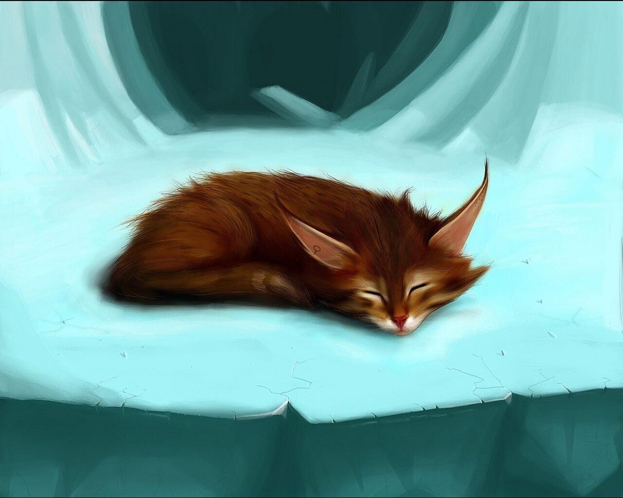Прикольные и милые арт картинки котиков и кошек - подборка 17