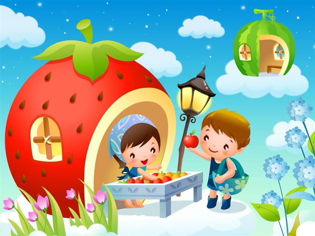 Картинки про детей в детском саду - рисунки, арты 14
