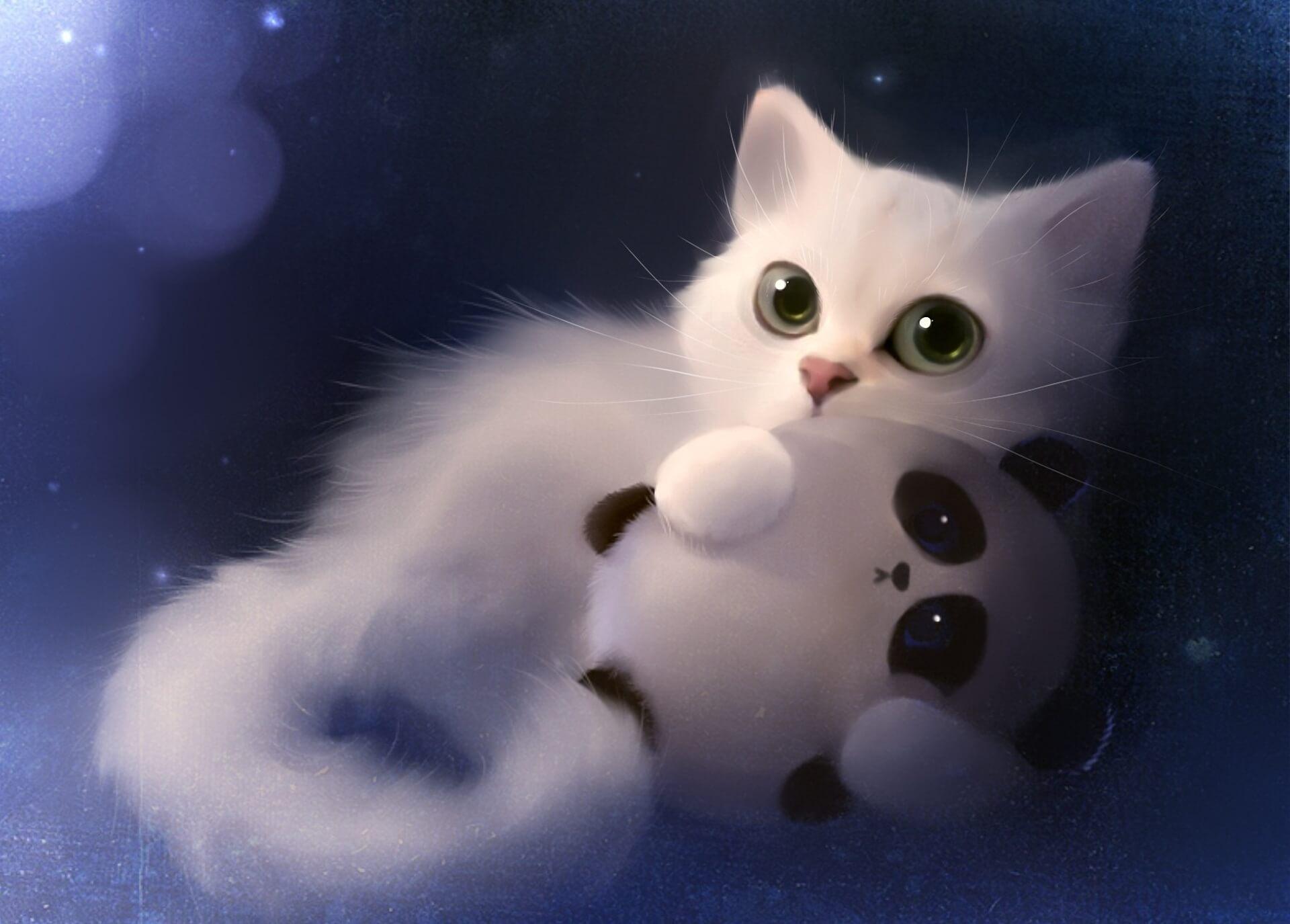 Прикольные и милые арт картинки котиков и кошек - подборка 20
