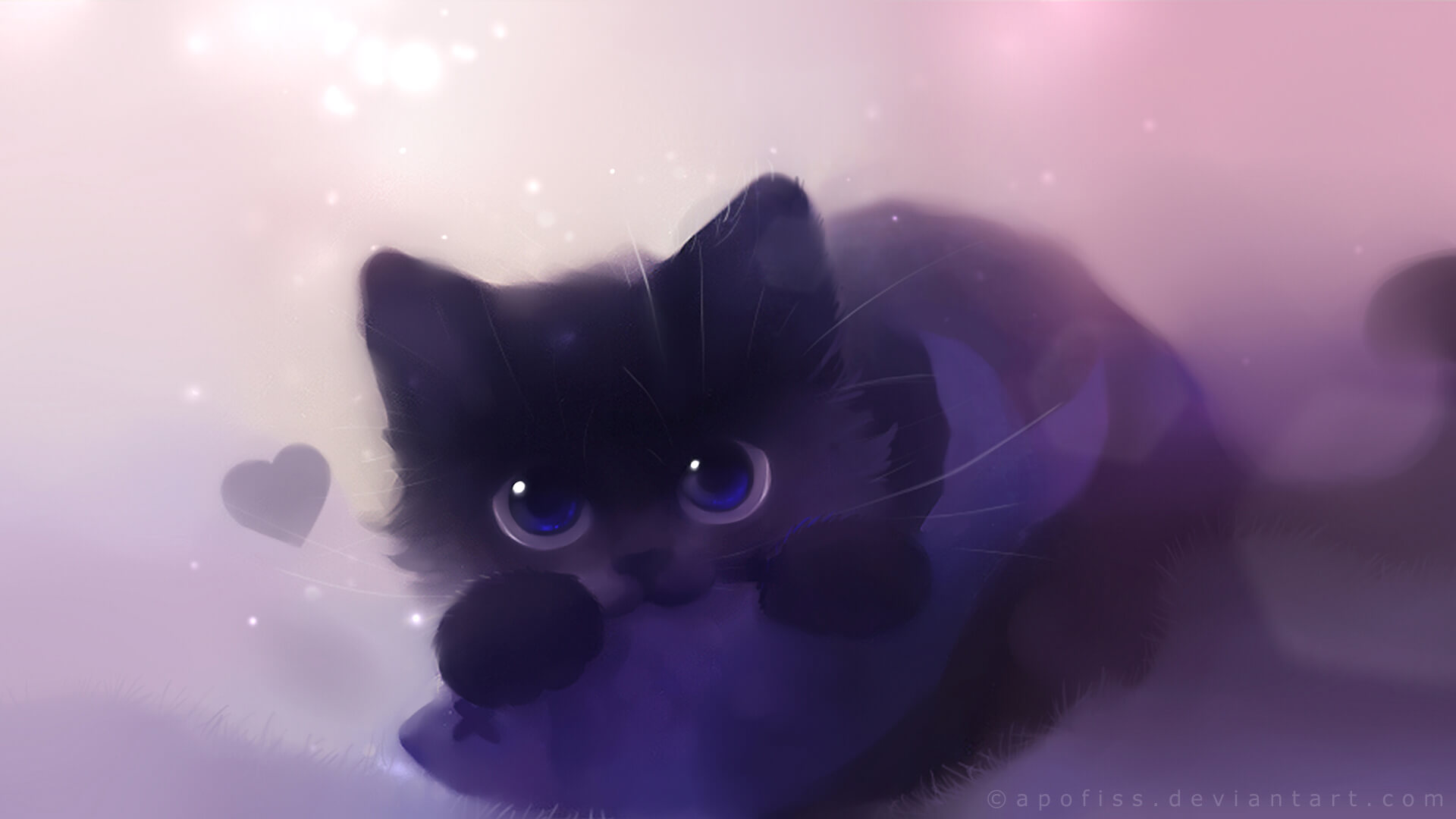 Прикольные и милые арт картинки котиков и кошек - подборка 21