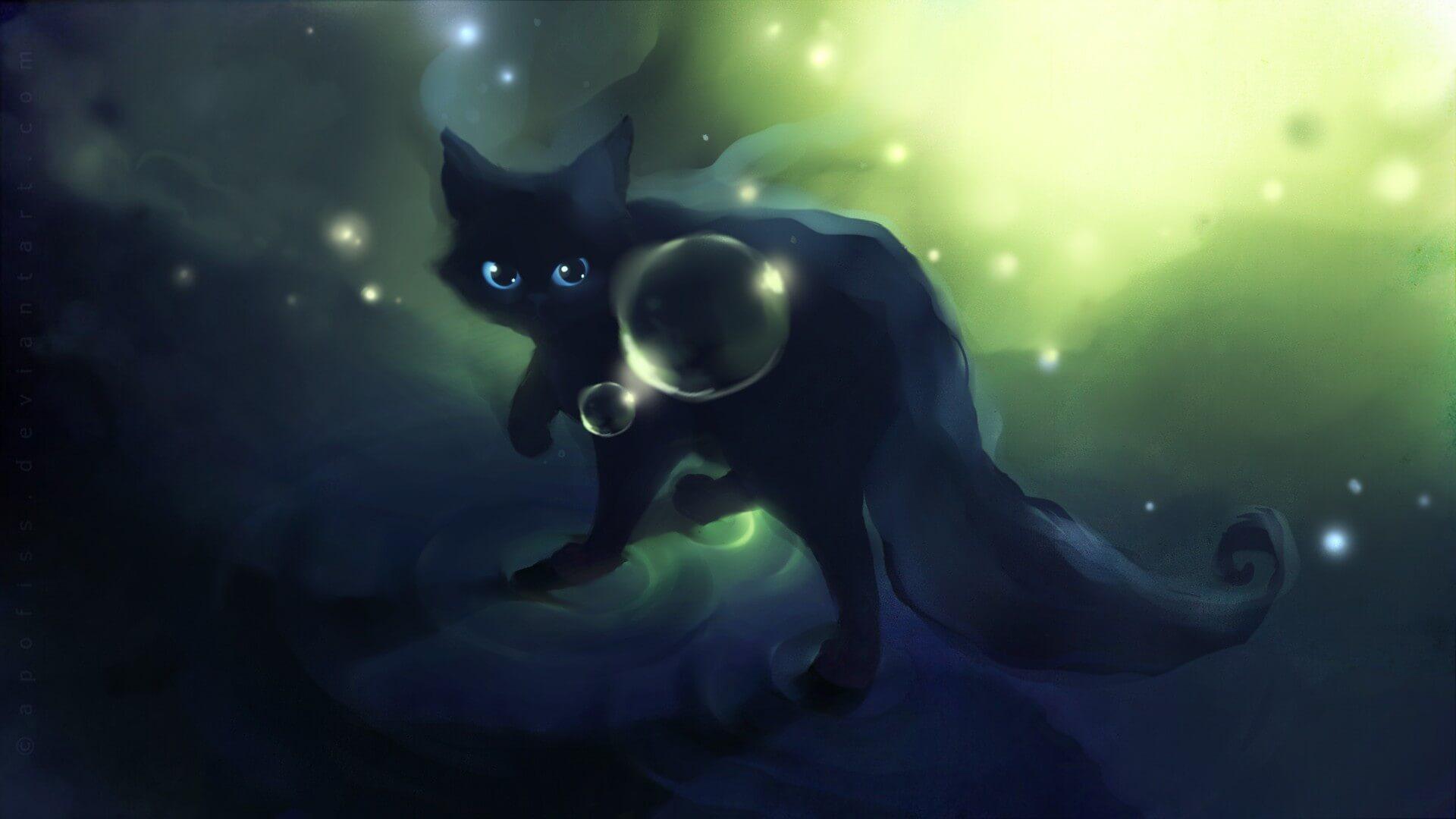 Прикольные и милые арт картинки котиков и кошек - подборка 22
