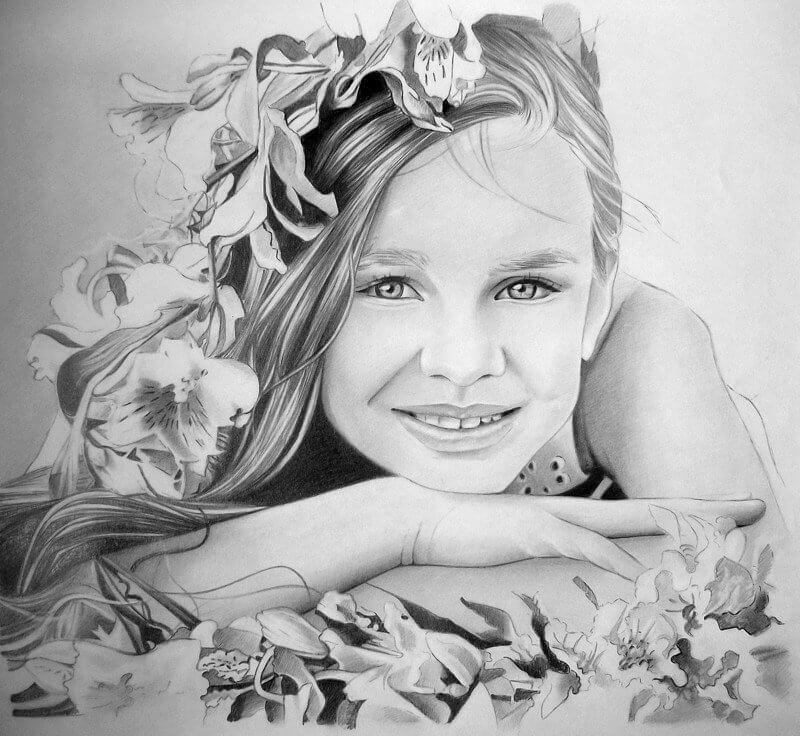 Красивые картинки карандашом девушек и девочек - подборка 12