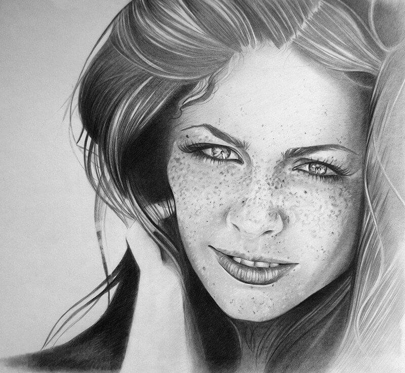 Красивые картинки карандашом девушек и девочек - подборка 11