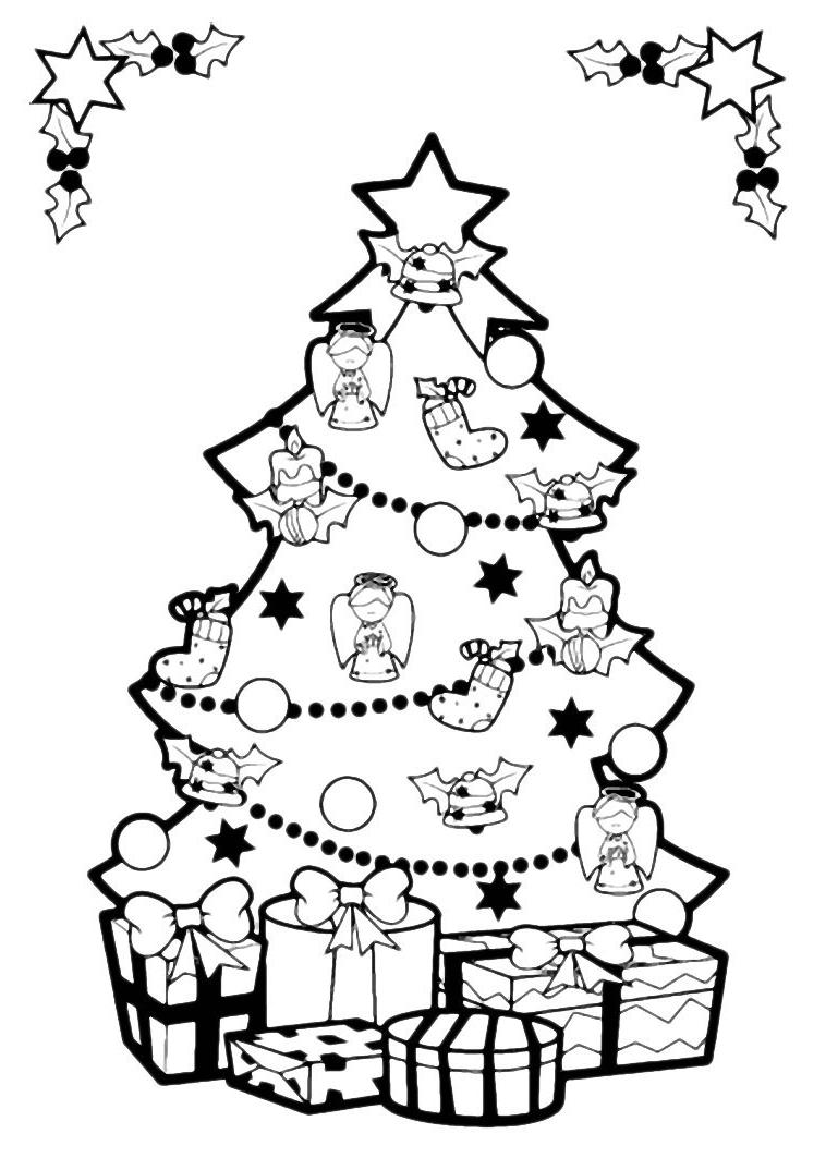 Лучшие новогодние картинки для детей для срисовки - подборка 12