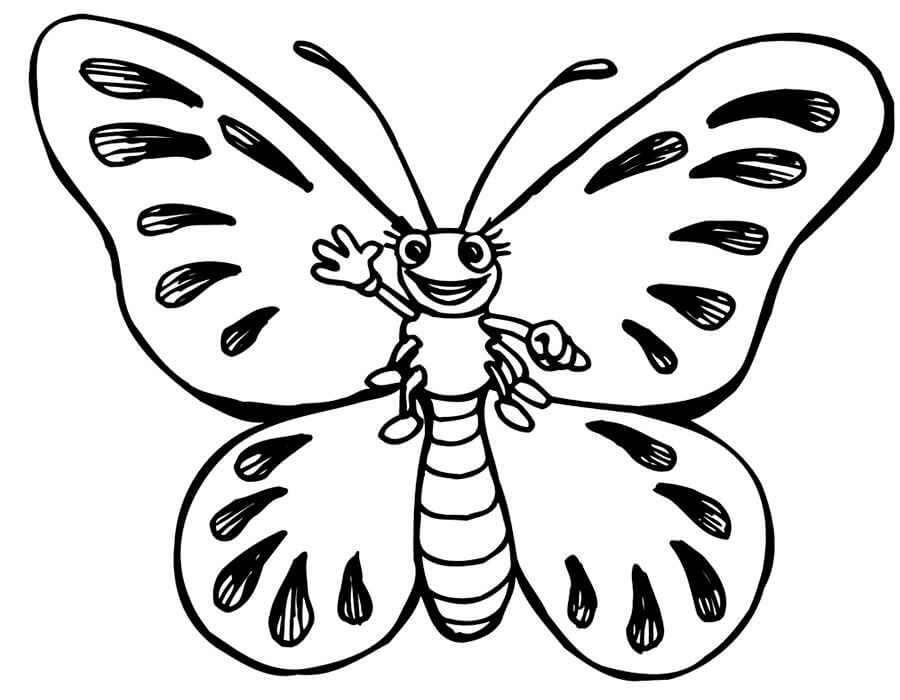 Красивые рисунки, картинки бабочки для детей - коллекция 12