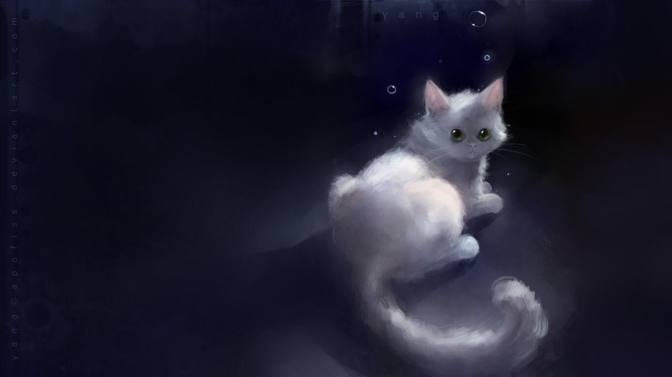 Прикольные и милые арт картинки котиков и кошек - подборка 24