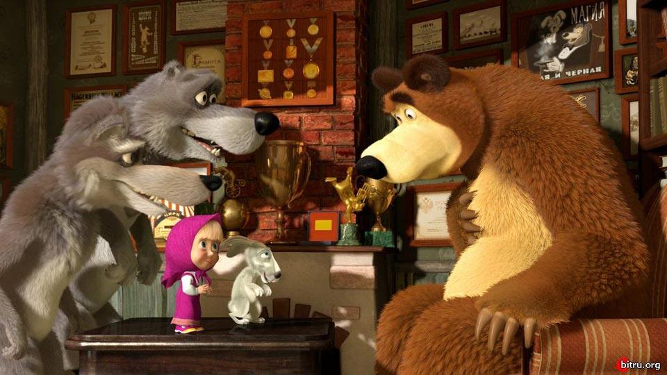 Маша и медведь картинки с волками