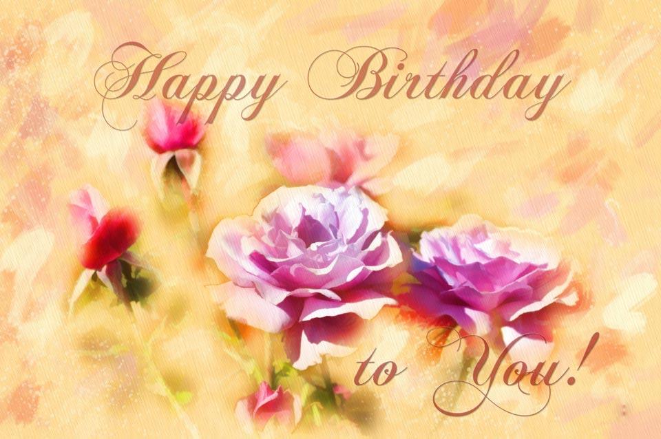 Английские открытки с цветами с днем рождения, открытка