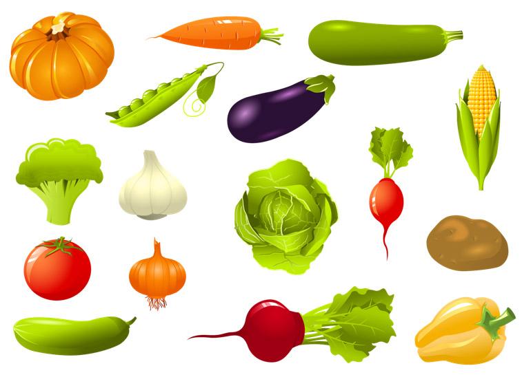 Цветные овощи и фрукты картинки для детей - красивые и ...