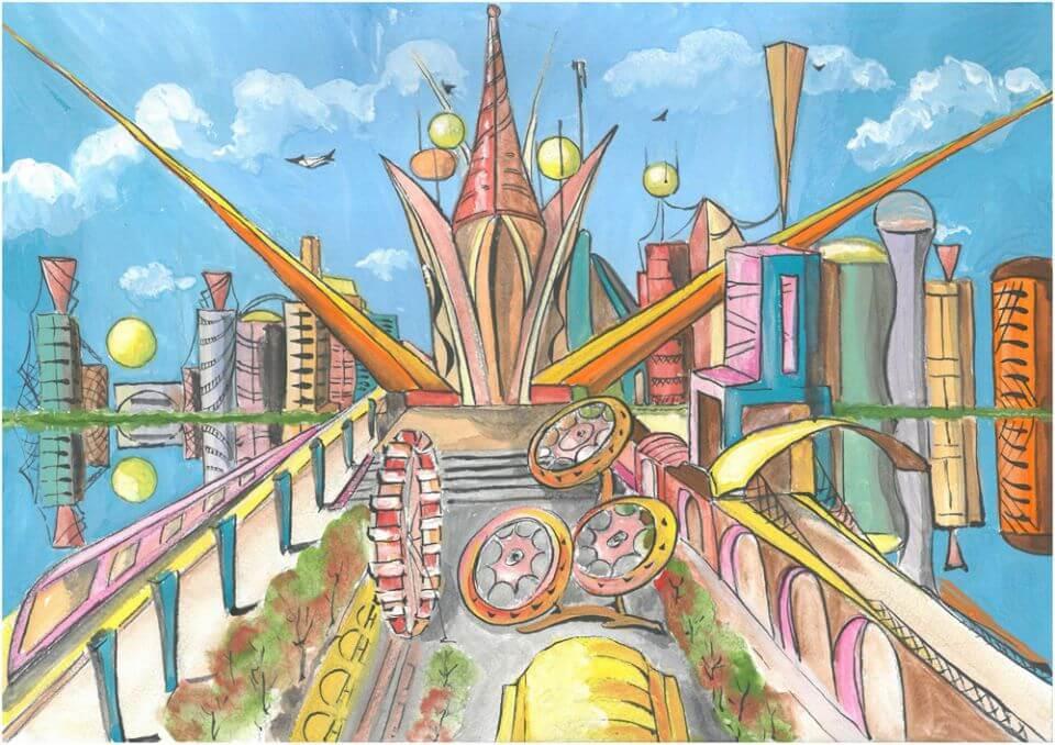 рисунок мои мечты о будущем выдержат влагу