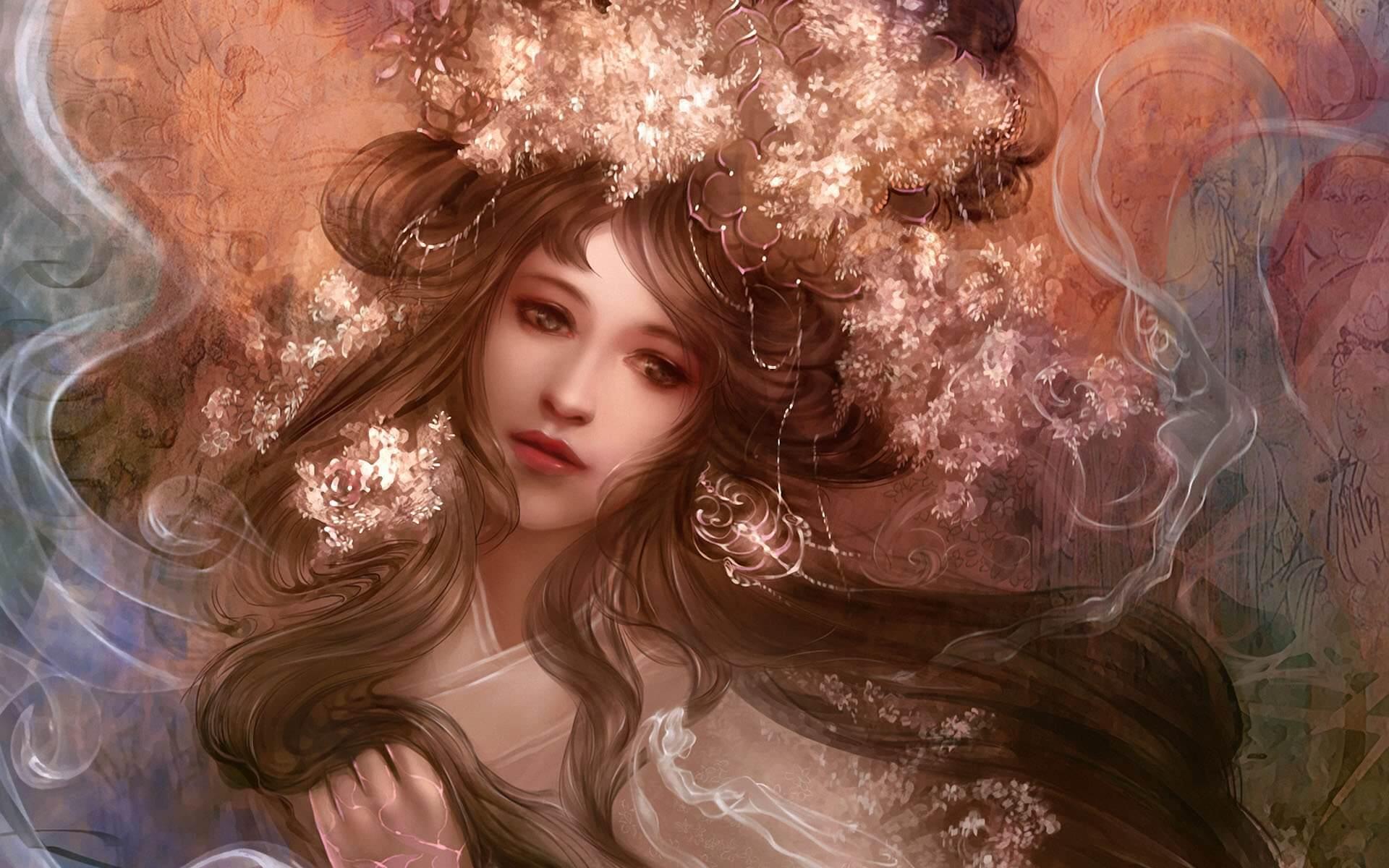 Картинки в стиле фэнтези девушки